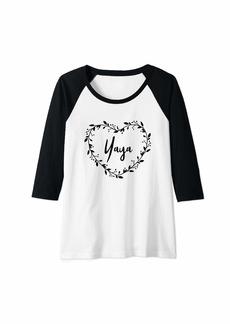 Ya-Ya Womens Yaya Gift For Grandma Beautiful Yaya Gift Grandmother Gift Raglan Baseball Tee