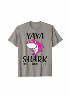 Ya-Ya Yaya Shark For Mother Grandma Birthday Halloween Christmas T-Shirt