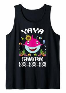 Ya-Ya yaya Shark Shirt Mothers Day Gift Idea For Mother Wife Tank Top