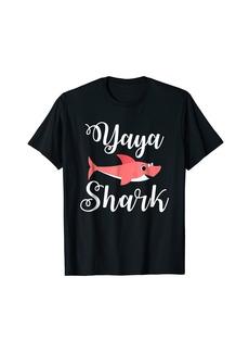 Ya-Ya YaYa Shark T-Shirt Funny Greek Gift for Grandma YaYa
