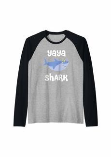 Ya-Ya Yaya Shark T-Shirt Funny Sharks Gift for Ya Ya Doo Doo Doo Raglan Baseball Tee