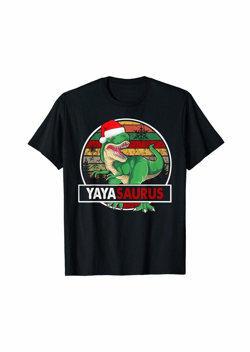 Ya-Ya Yayasaurus T Rex Dinosaur Yaya Saurus Christmas T-Shirt