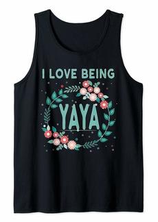 Ya-Ya Yia Yia Yaya Greek Grandmother Gift I Love Being YaYa Tank Top