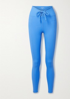 Year Of Ours Football Lace-up Ribbed Stretch-jersey Leggings