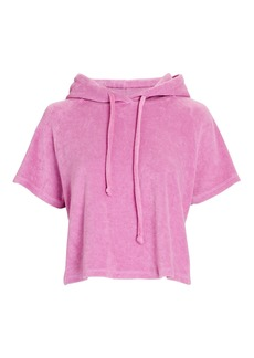 Year Of Ours Poolside Cropped Hooded Terry Sweatshirt