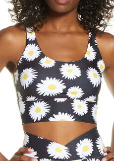 Year of Ours Daisy Print Longline Sports Bra