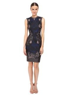 Yigal Azrouel Abstract Ganesha Print Scuba Dress