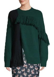 Yigal Azrouel Asymmetric Fringe Cashmere Sweater