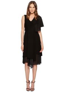 Yigal Azrouel Asymmetric Ruffle Sleeveless Dress