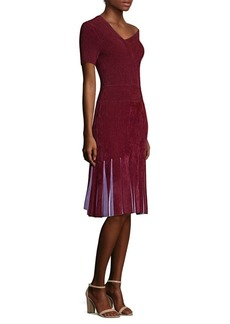 Yigal Azrouel Chenille Asymmetric Fit-&-Flare Dress