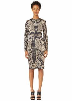 Yigal Azrouel Clouded Leopard Printed Scuba Dress