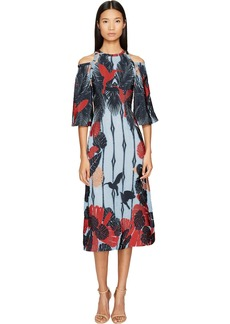 Yigal Azrouel Cold Shoulder Flare Dress