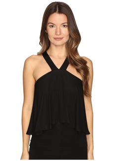 Yigal Azrouel Cold Shoulder Matte Jersey Top