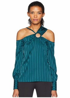 Yigal Azrouel Cold Shoulder Top w/ Ring