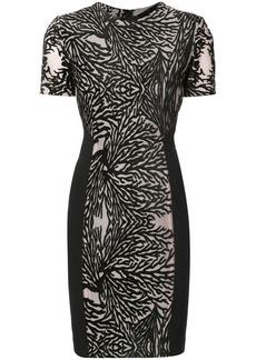Yigal Azrouel coral reef burnout sheath dress