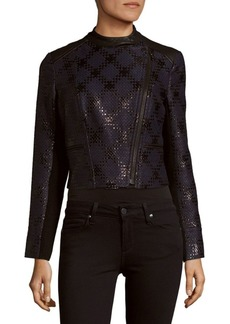 Yigal Azrouel Cropped Front-Zip Jacket