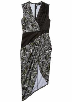 Yigal Azrouel Cross Front Geometric Mid-Piece Dress