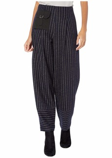 Yigal Azrouel Double Face Stripe Knit Carrot Pants