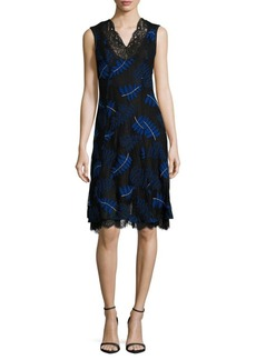 Yigal Azrouel Ferns Embroidered Sleeveless Dress
