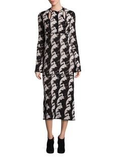 Yigal Azrouel Filigree Lace Bell-Sleeve Dress