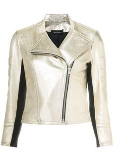 Yigal Azrouel Foiled Metallic Moto jacket