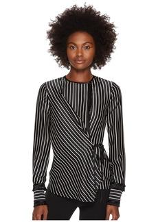 Yigal Azrouel Fringe Detailed Stripe Tuxedo Shirt