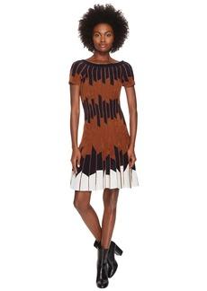 Yigal Azrouel Geometric Pleated Chennile Dress
