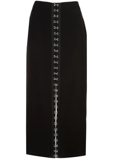 Yigal Azrouel hook and eye detail skirt