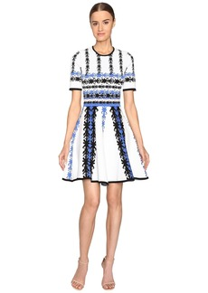Yigal Azrouel Jacquard Knit Fit and Flare Dress