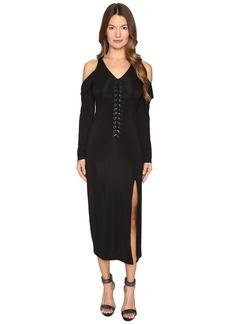 Yigal Azrouel Lacing Detail Matt Jersey Dress
