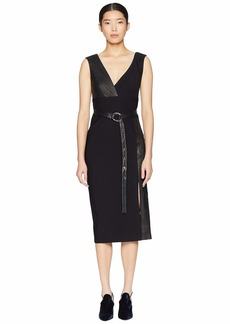 Yigal Azrouel Leather Combo MS Dress