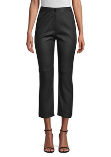 Yigal Azrouel Leather Side Slit Pants