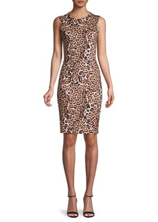 Yigal Azrouel Leopard-Print Sheath Dress
