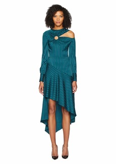 Yigal Azrouel Long Sleeve Cut Out Dress w/ Ring Detail