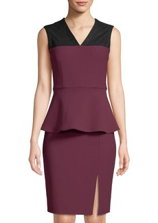 Yigal Azrouel Mechanical Stretch Peplum Dress