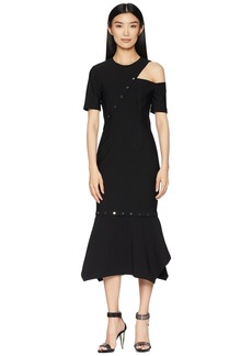 Yigal Azrouel MS Dress with Cut Out & Snap Detail, Removable Hem