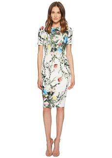 Yigal Azrouel Multi Floral Scuba Bodycon Dress