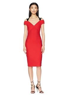Yigal Azrouel Off Shoulder Dress with Velvet Straps
