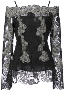 Yigal Azrouel off the shoulder lace blouse