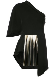 Yigal Azrouel one shoulder pleated blouse