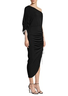 Yigal Azrouel One-Shoulder Ruched Dress