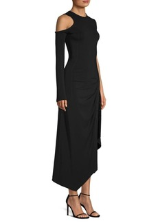 Yigal Azrouel One-Shoulder Side Slit Dress