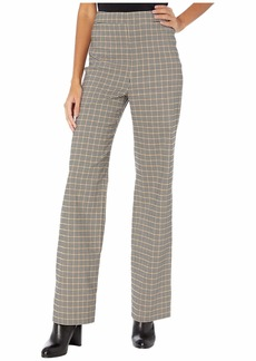 Yigal Azrouel Plaid Wool Twill Wide Leg Pants