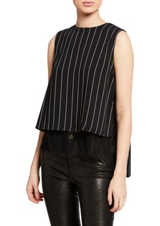 Yigal Azrouel Pleated Back Striped Tank