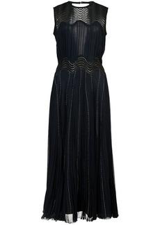 Yigal Azrouel pleated chiffon dress