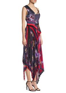 Yigal Azrouel Pleated Handkerchief Dress