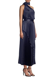Yigal Azrouel Pleated Scarf Midi Dress
