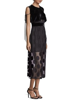 Yigal Azrouel Polka Dot Midi Dress