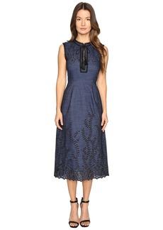Yigal Azrouel Pom Pom Embroidered Dress
