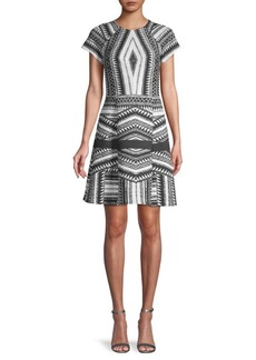 Yigal Azrouel Printed A-Line Dress